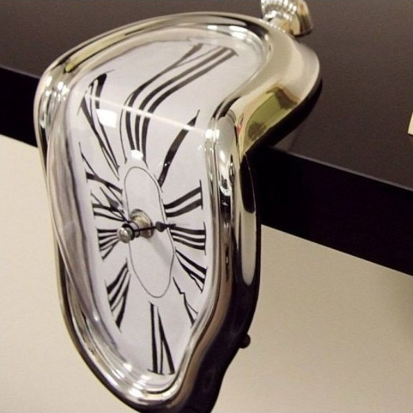 MELTING CLOCK SILVER 69e9b88533e